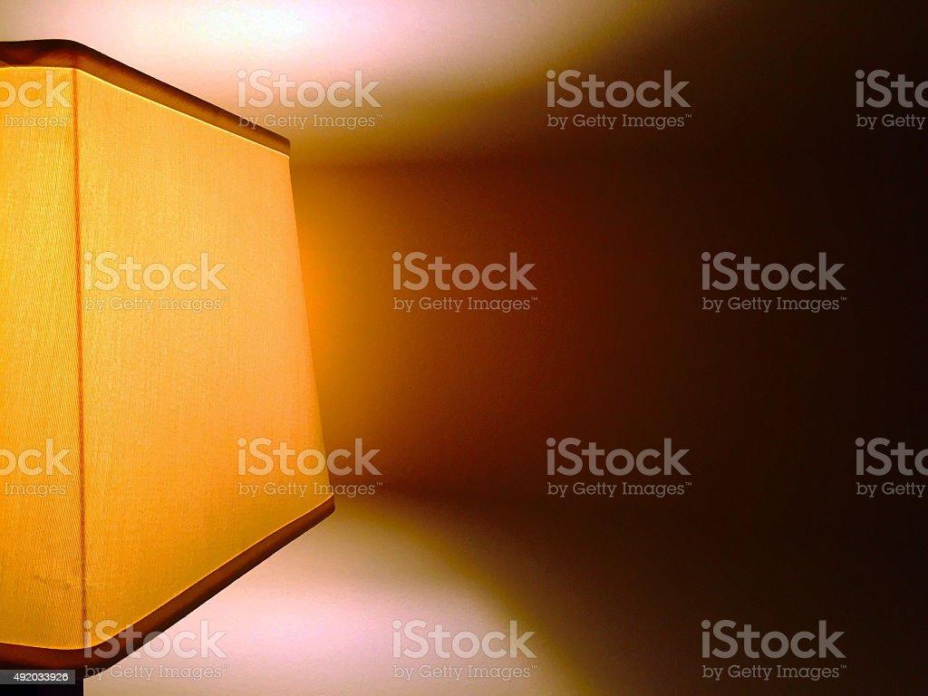 Night lamp on wall royalty-free stock photo