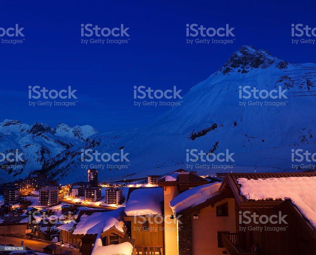 Night landscape of city stock photo