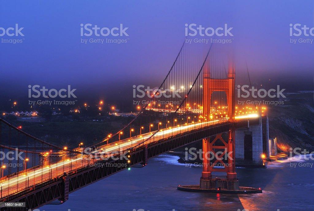 Night landscape with Golden Gate Bridge, San Francisco, USA royalty-free stock photo