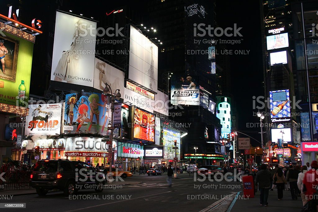 night life on Times Square in New York royalty-free stock photo