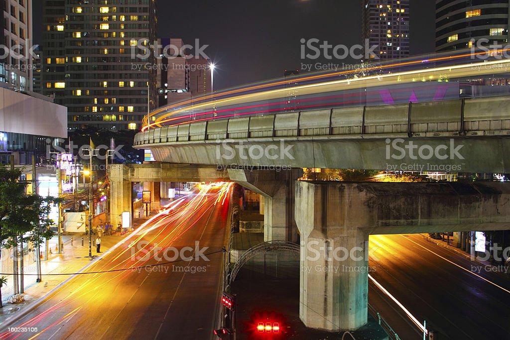 Night Light City royalty-free stock photo