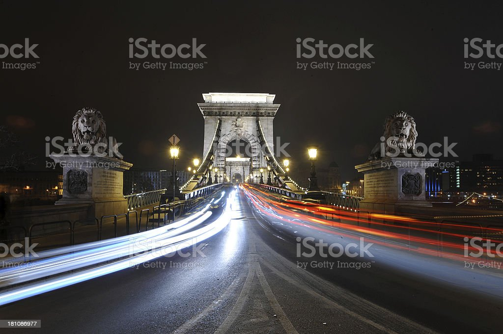 Night light in Budapest royalty-free stock photo