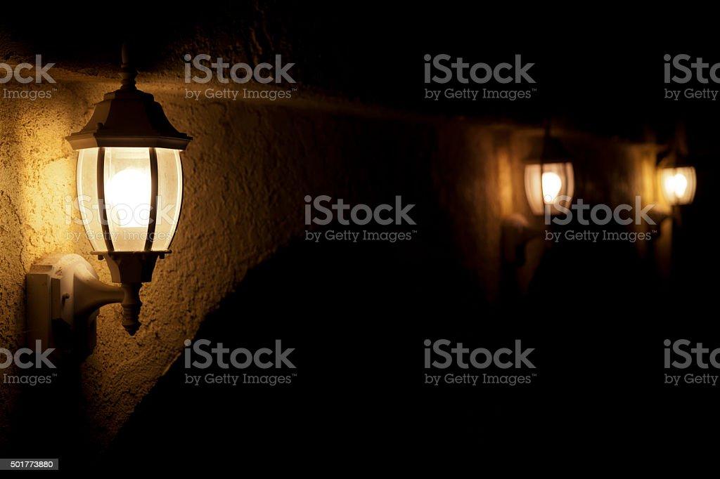 Night Light Outdoors stock photo