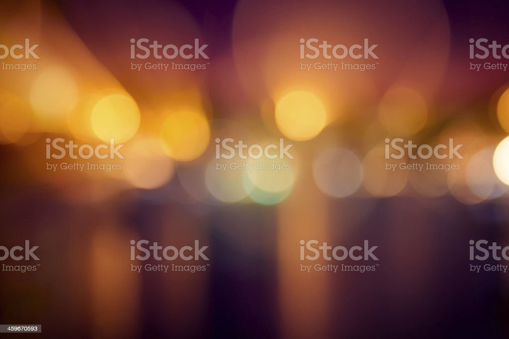 Night lights at a festival stock photo