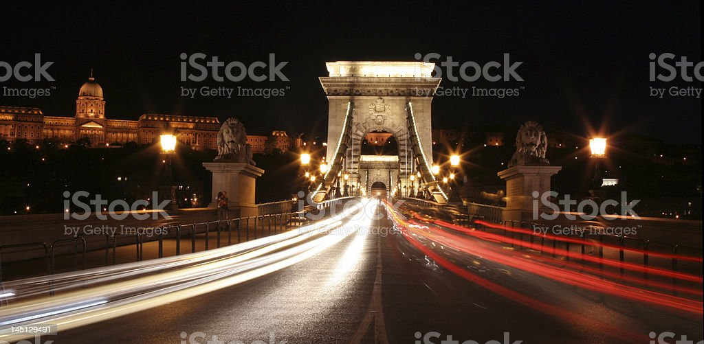 Night lights in Budapest. royalty-free stock photo