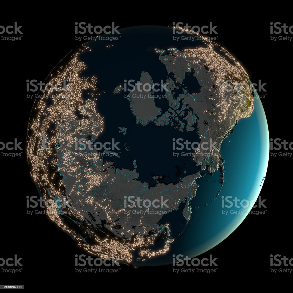 Night Lights of Earth stock photo