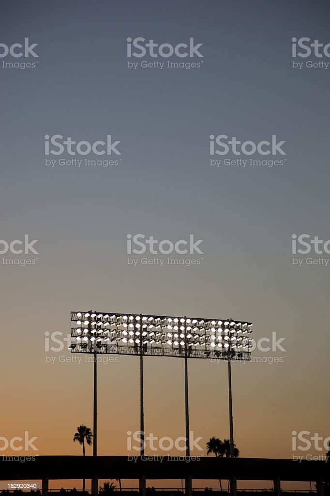Night Lights of Stadium stock photo