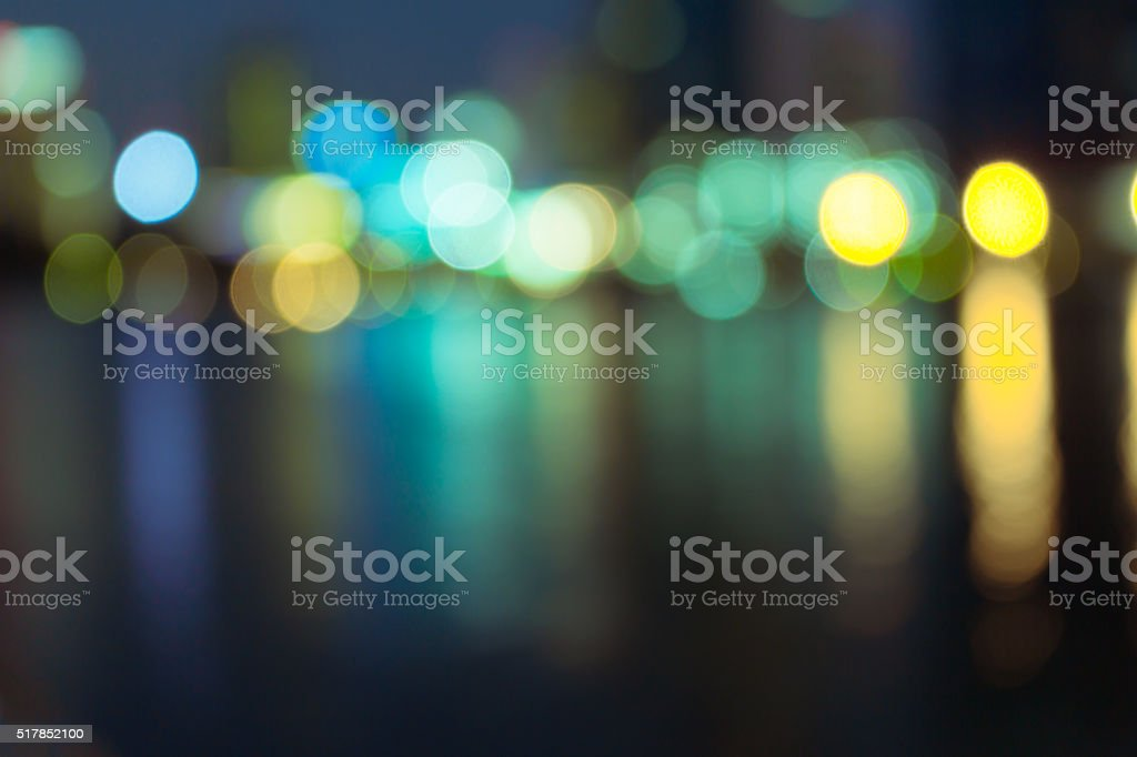 Night lights of the Hong Kong stock photo