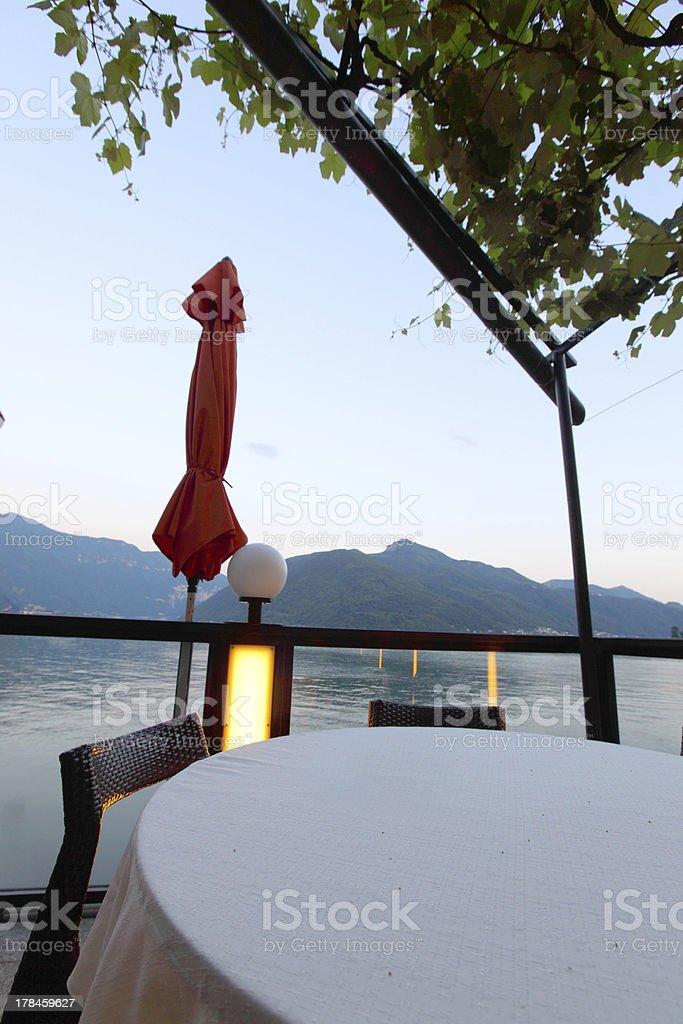 night lugano lake landscape royalty-free stock photo