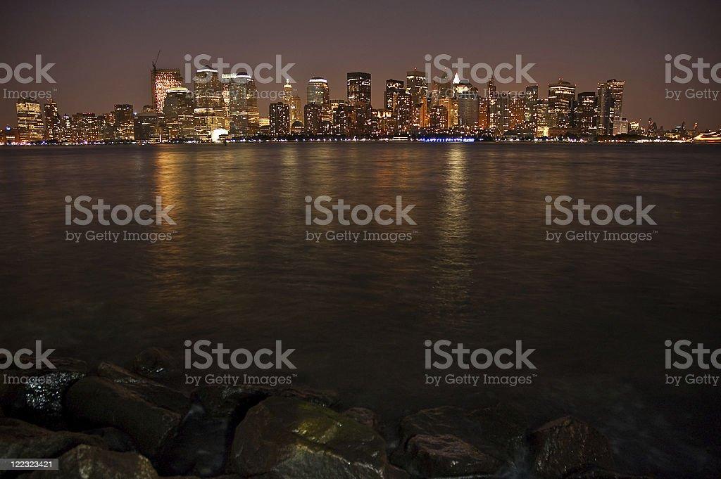 night Manhattan royalty-free stock photo