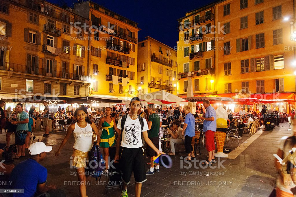 Night market at Nice royalty-free stock photo