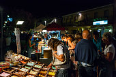 Night market in Cervia (Romagna, Italy)