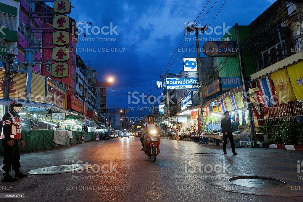 Night market in Chiang Mai Thailand royalty-free stock photo