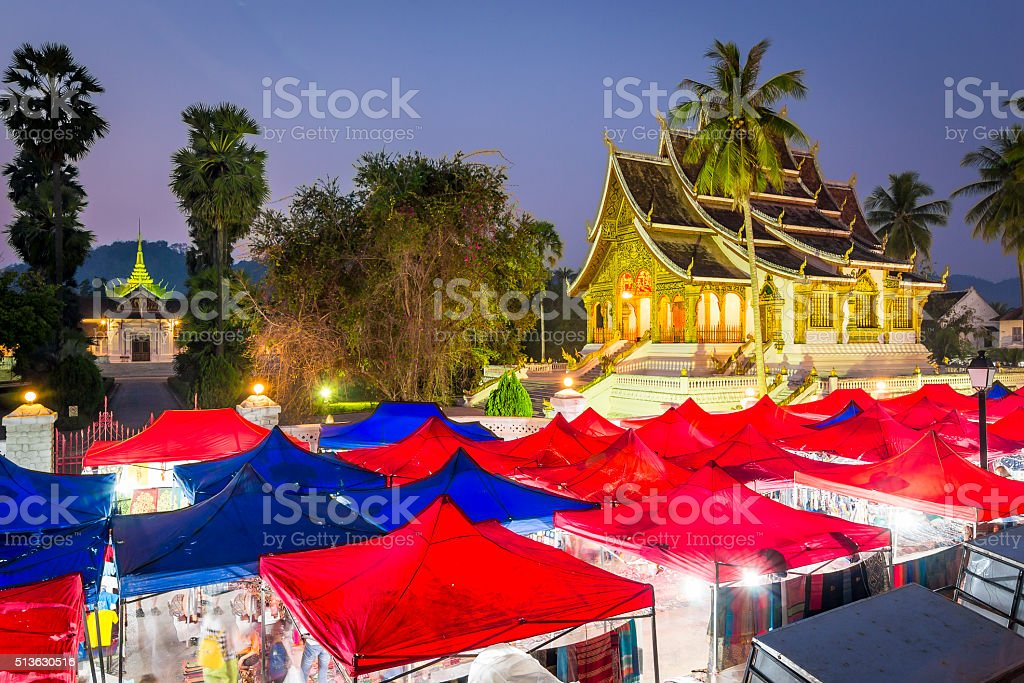 Night Market in Luang Prabang stock photo