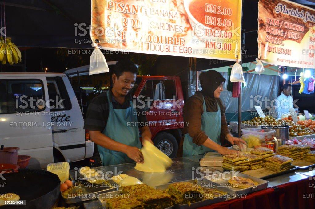 Night market, Langkawi stock photo