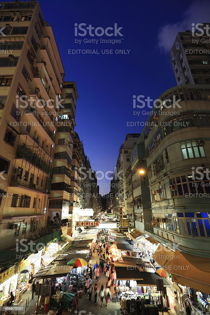 Night Market of Kowloon royalty-free stock photo