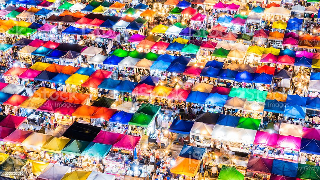Night market. stock photo