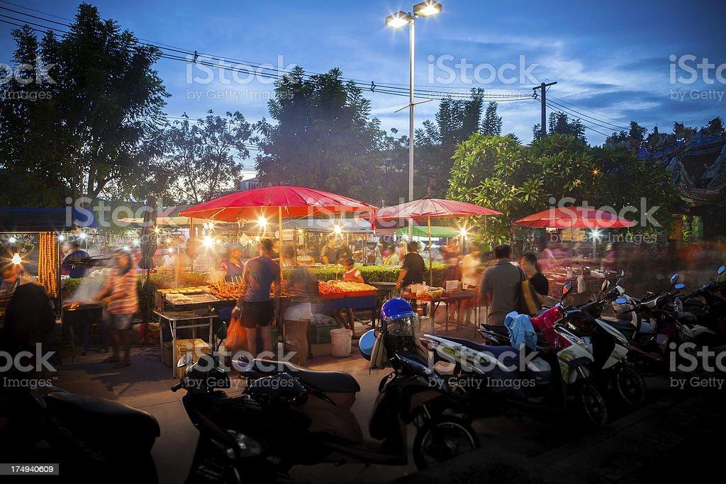 Night market Thailand stock photo