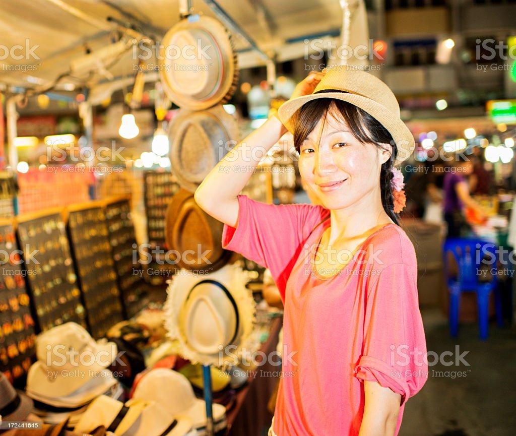 Night Market Tourist royalty-free stock photo