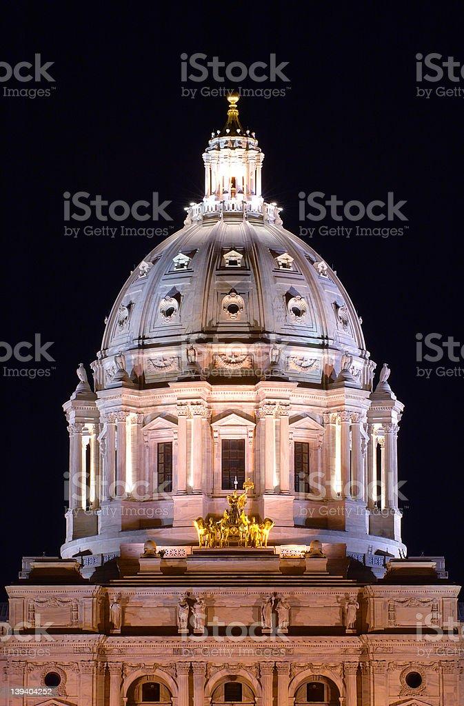 Night Minnesota Capitol royalty-free stock photo