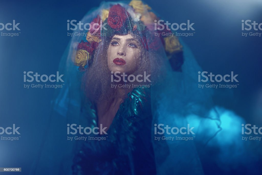 Night misterious look stock photo