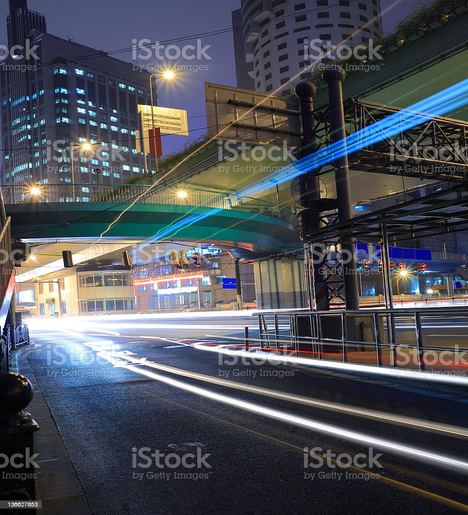 Night move light  in Highway royalty-free stock photo