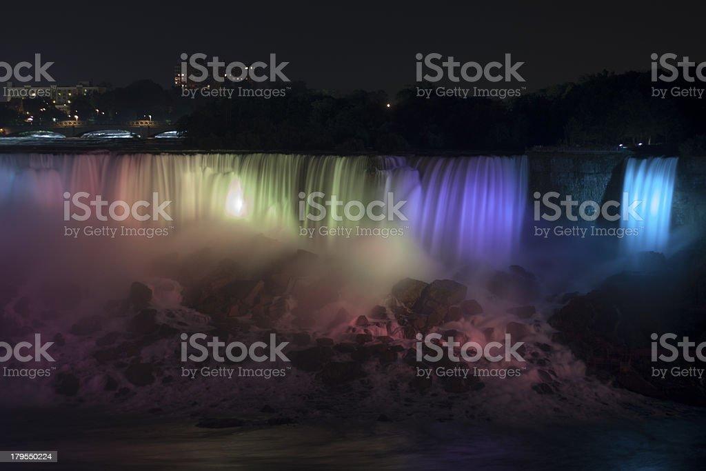 Nacht Niágara Falls Lizenzfreies stock-foto