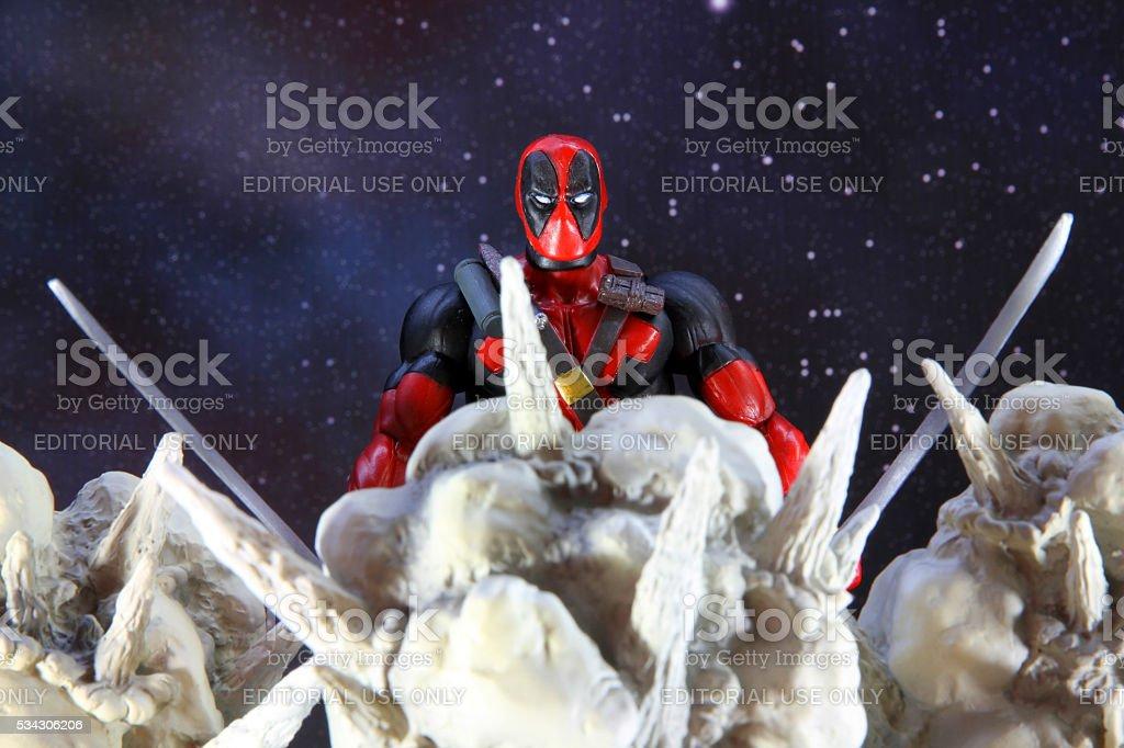 Night of Deadpool stock photo
