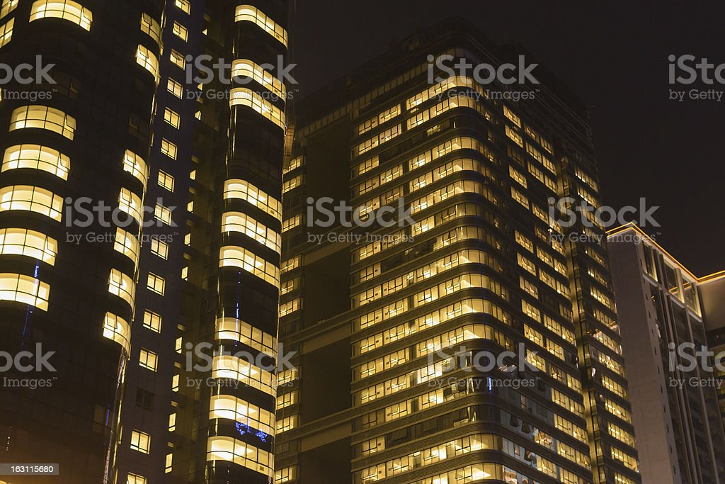 night office building royalty-free stock photo