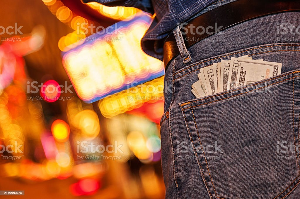 Night on The Town with Money to Burn stock photo