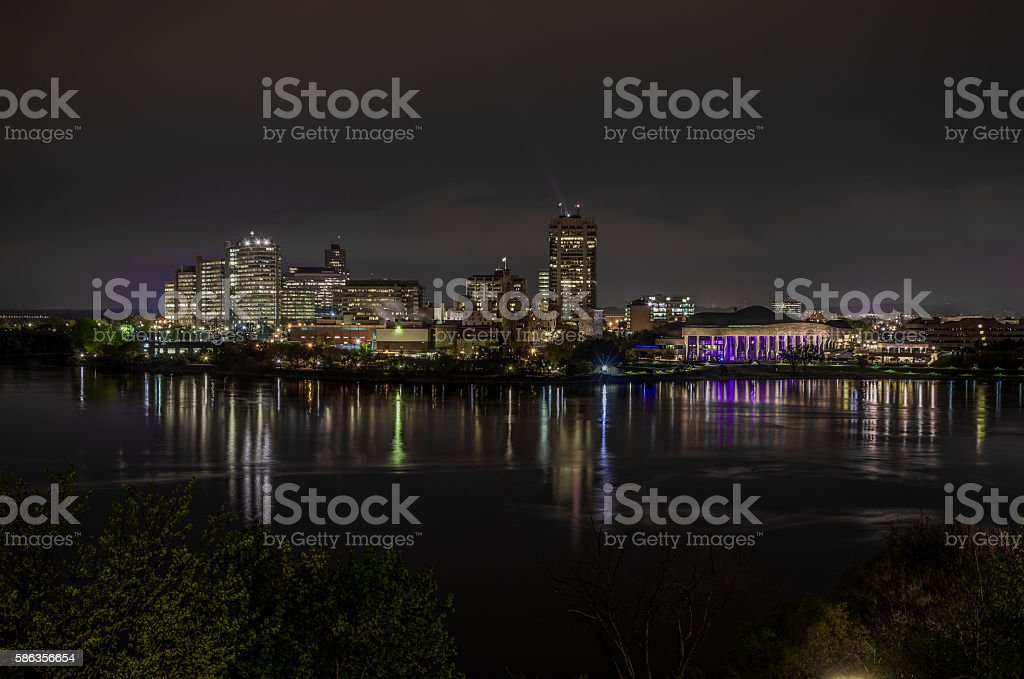 Night Ottawa stock photo