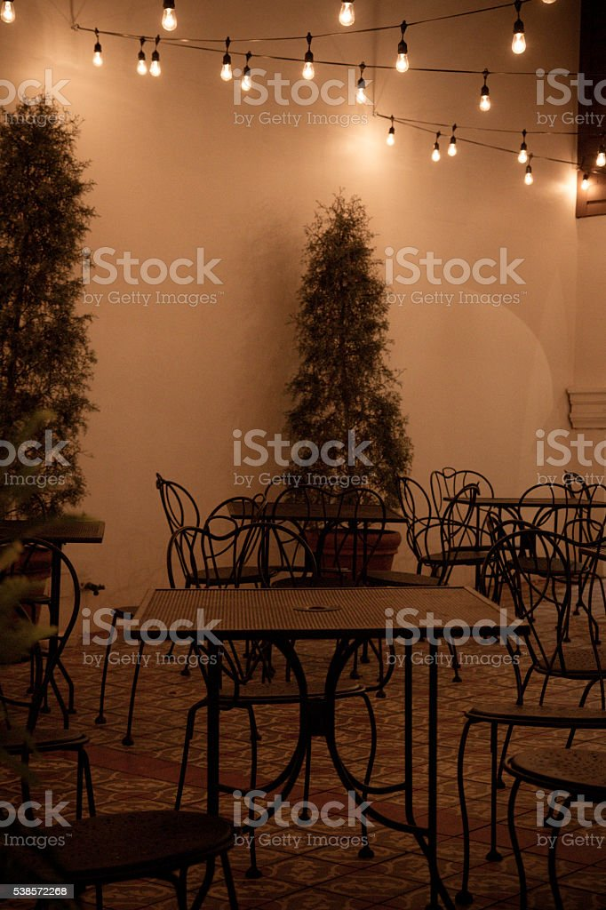 Night out at the Italian Restaurant stock photo