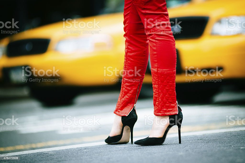 Night out in New York stock photo