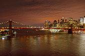 Night over a Manhattan.