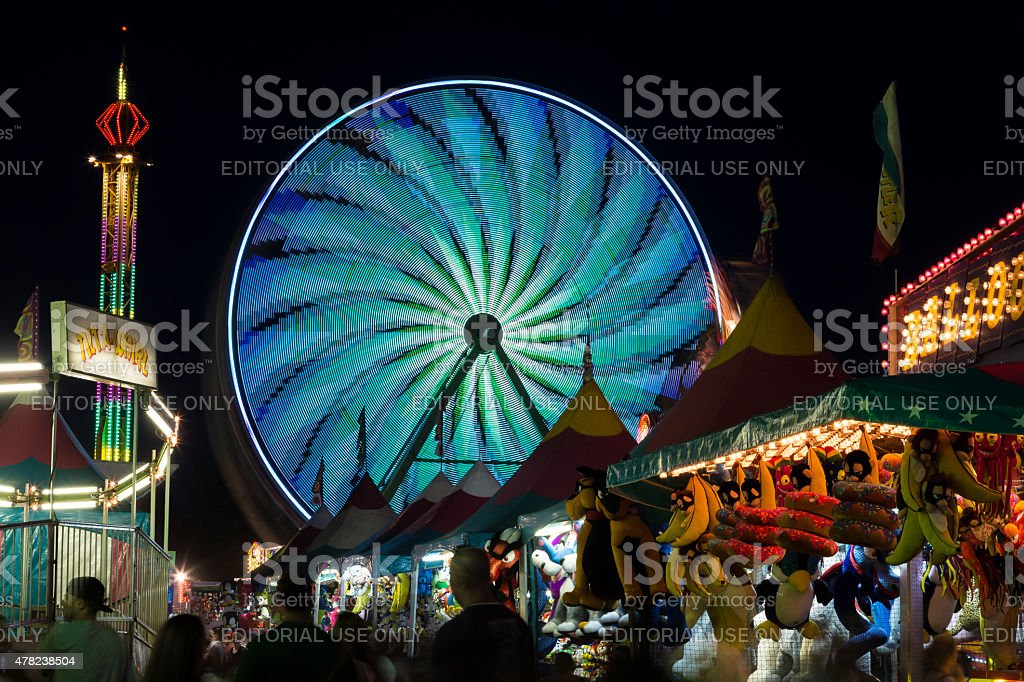 Night over the Midway stock photo