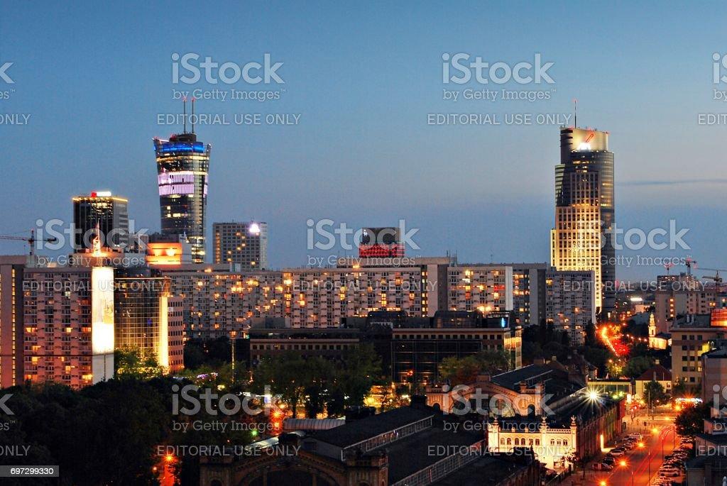 Night panorama stock photo