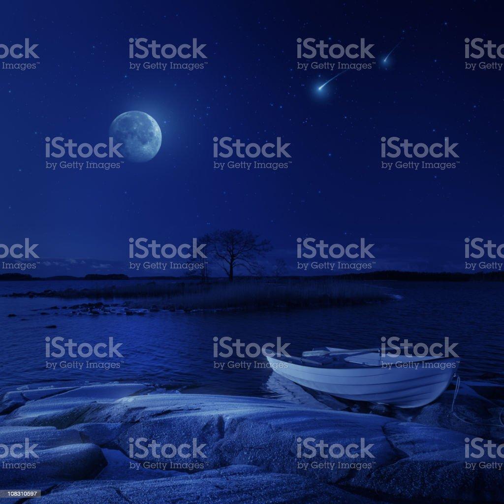 Night paradise stock photo