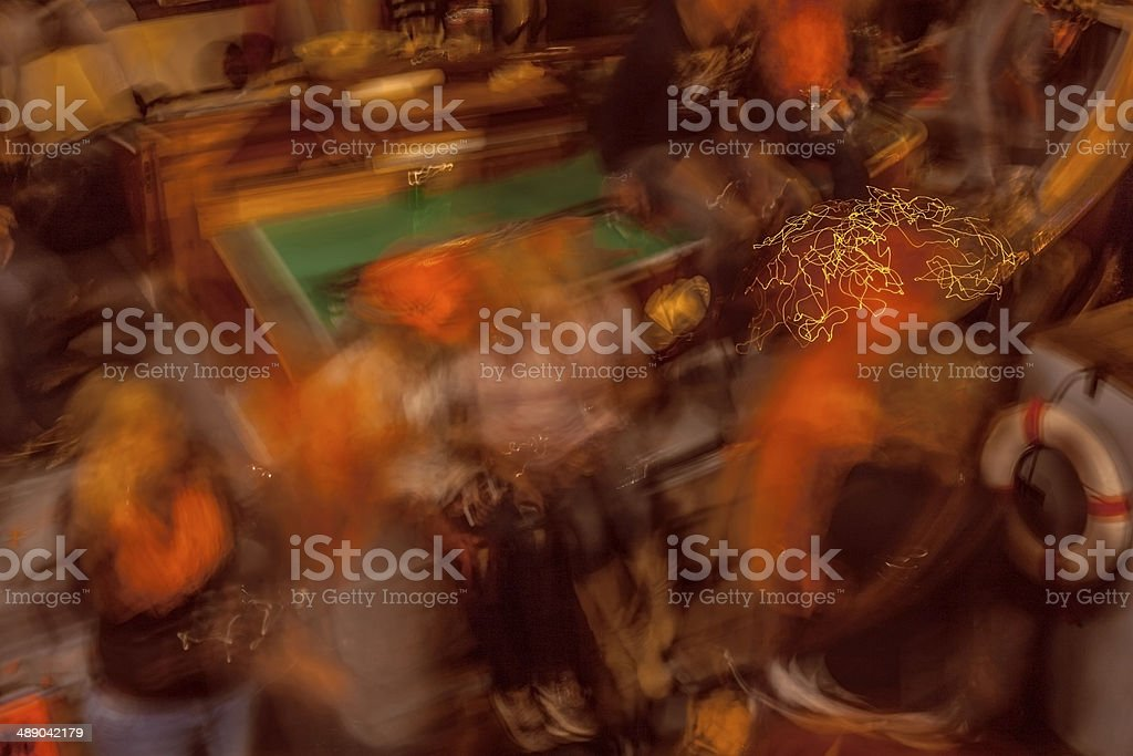Night people stock photo