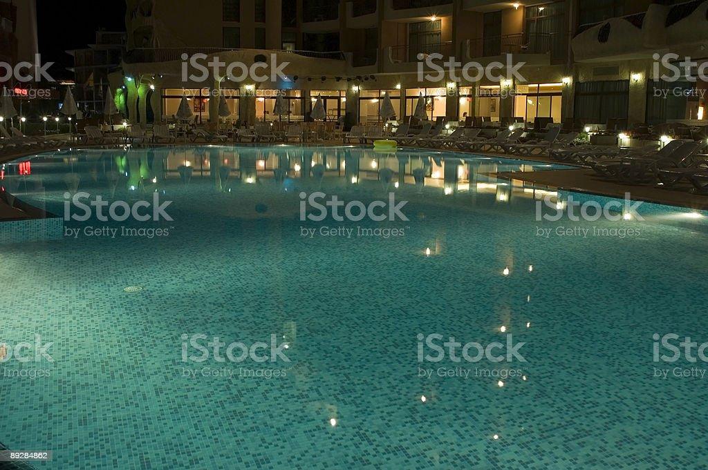 night pool 05 royalty-free stock photo