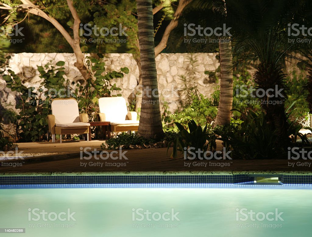 Night pool royalty-free stock photo