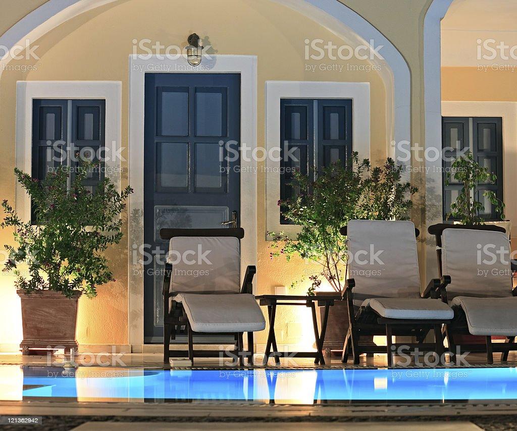 Night Poolside royalty-free stock photo