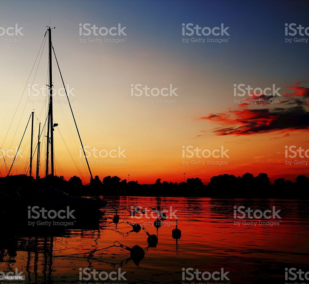 night port, phenomenon. stock photo