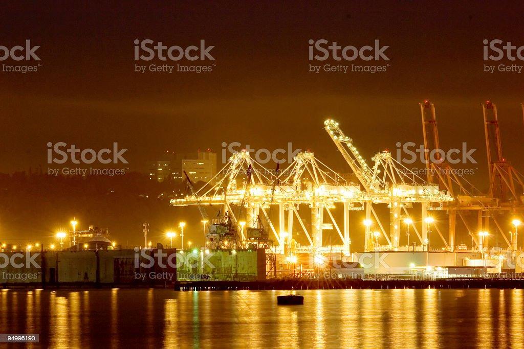 Night port royalty-free stock photo