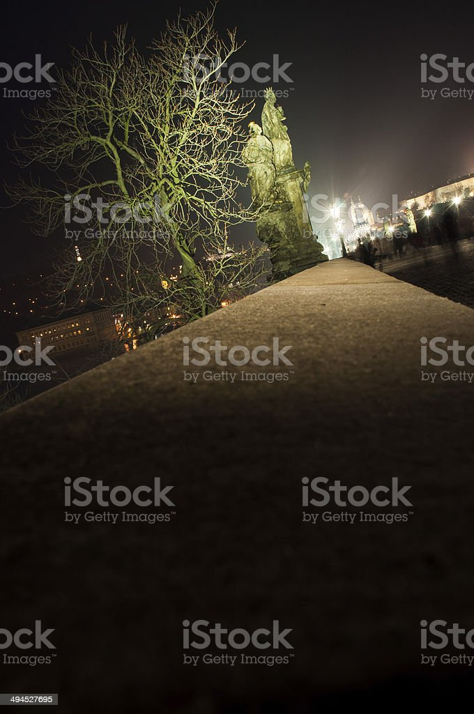 Night Prague. stock photo