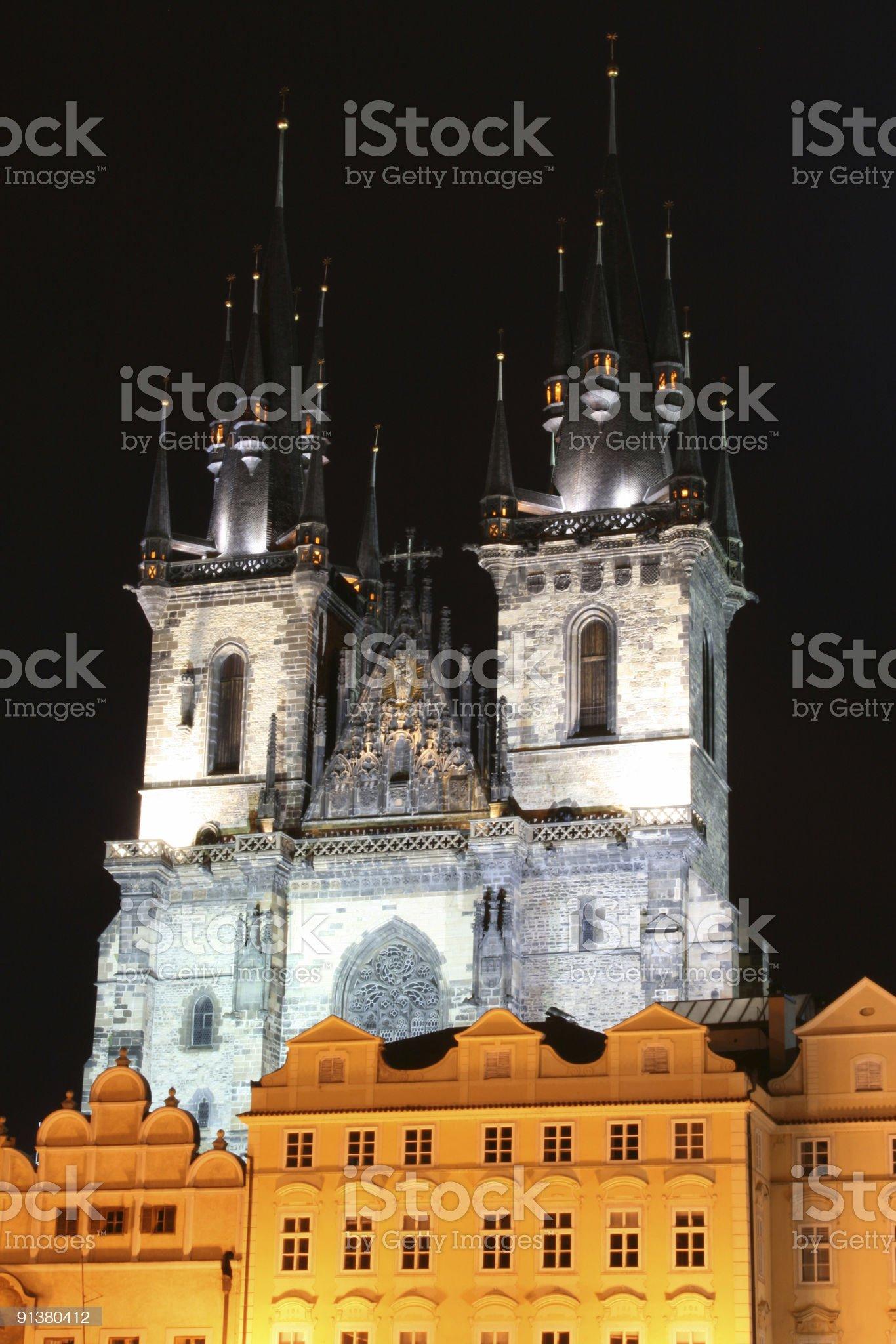 night Prague royalty-free stock photo