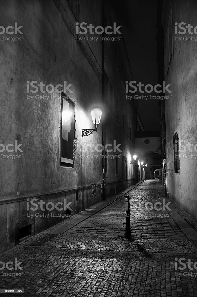 Night Prague scenery royalty-free stock photo