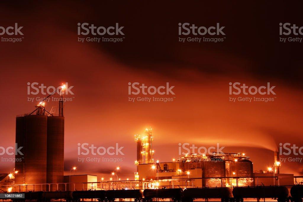 Night Refinery royalty-free stock photo