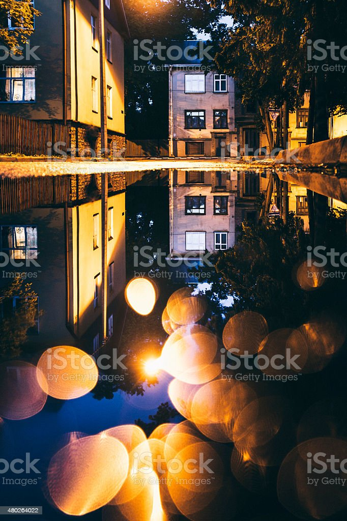 Night reflections. stock photo