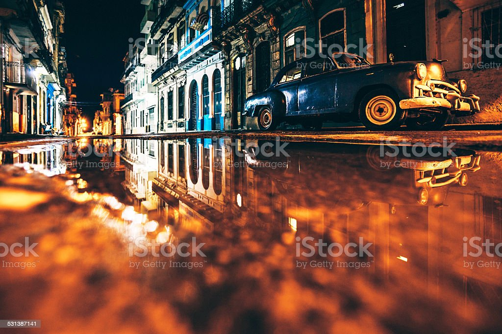 Night reflections. stock photo