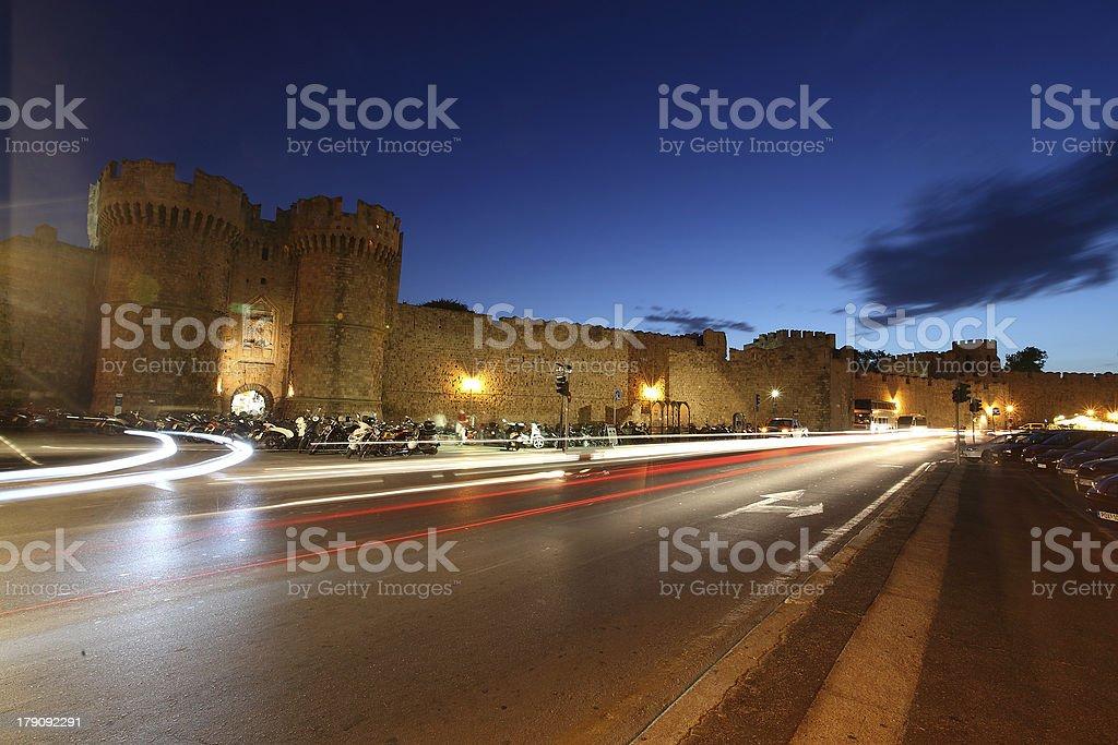 Night Rhodes royalty-free stock photo